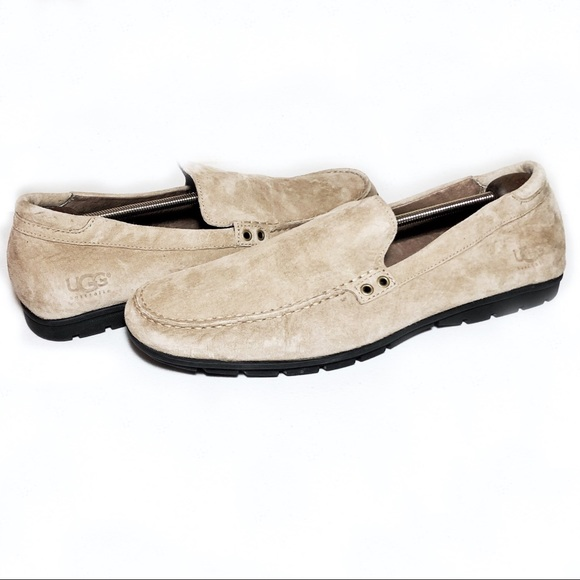 29e962cb435 Ugg Mens Suede Driving Moccasins Loafers Size 15 NWT